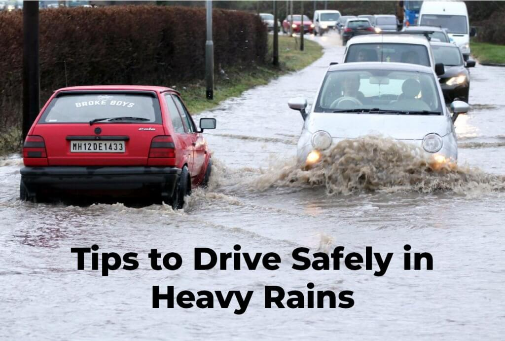Tips to Drive Safely in Heavy Rains - Acko