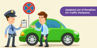 Updated List of Penalties, Fines, and Rules for Traffic Violations - From Sep 2019