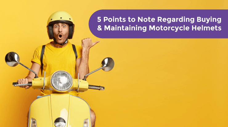 5 Points to Note Regarding Buying & Maintaining Motorcycle Helmets - Acko