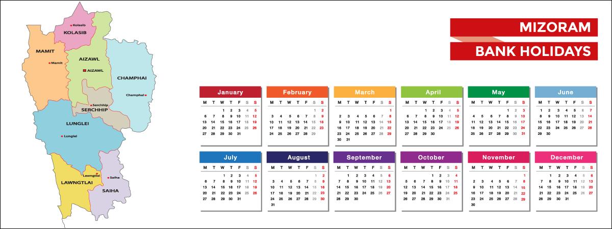 Mizoram Bank Holidays List 2021 - Acko