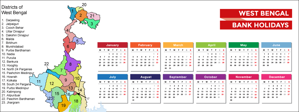 West Bengal Bank Holidays List 2021 - Acko