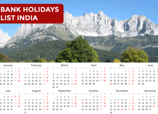 List of Bank Holidays in India